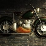 Antique Motorcycle Wall Art
