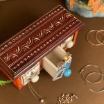 Wooden jewelry box with Ceramic drawers