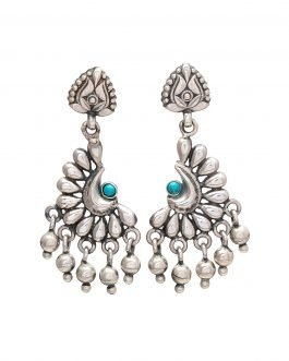Crescent Moon Silver Earring