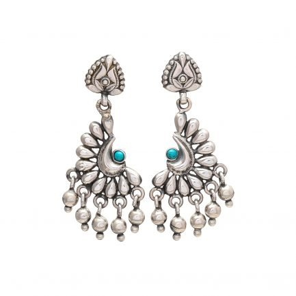 Crescent Moon Silver Earring 3