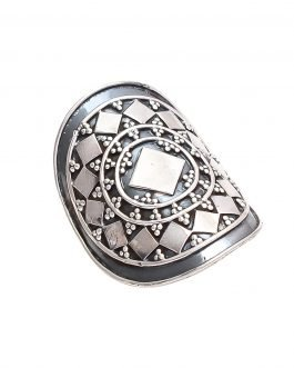 Classic silver textured ring