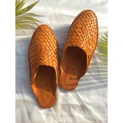 Women Leather Woven Mules 8