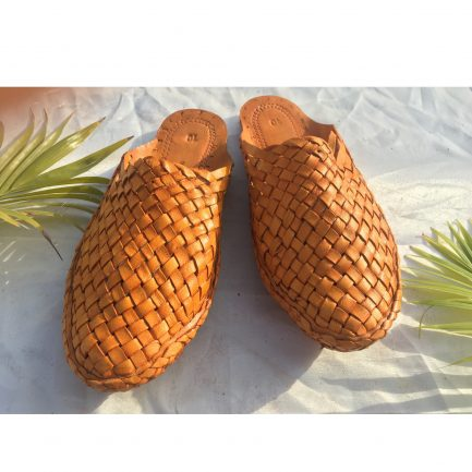 Women Leather Woven Mules 10