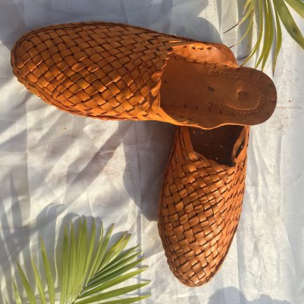 Women Leather Woven Mules 12