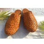 Women Leather Woven Mules