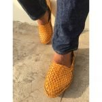 Woven Leather Shoes For Women
