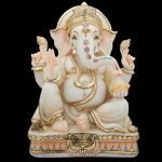 Ganesha Statue Large Marble 12 inches