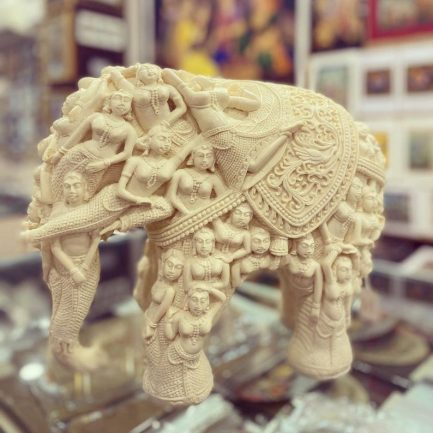 Elephant Statue Large Outdoor 12'' 4